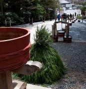 手水鉢と手水桶