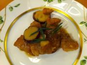 サツマイモと紀州鶏のキンカン煮