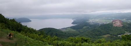 有珠山から洞爺湖と昭和新山