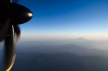 エコボンのプロペラと富士山