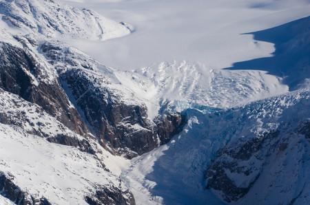 氷河の断面