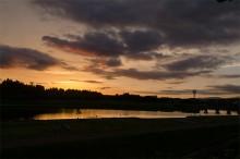 川内川の夕暮れ