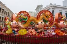 セナド広場の春節の飾り