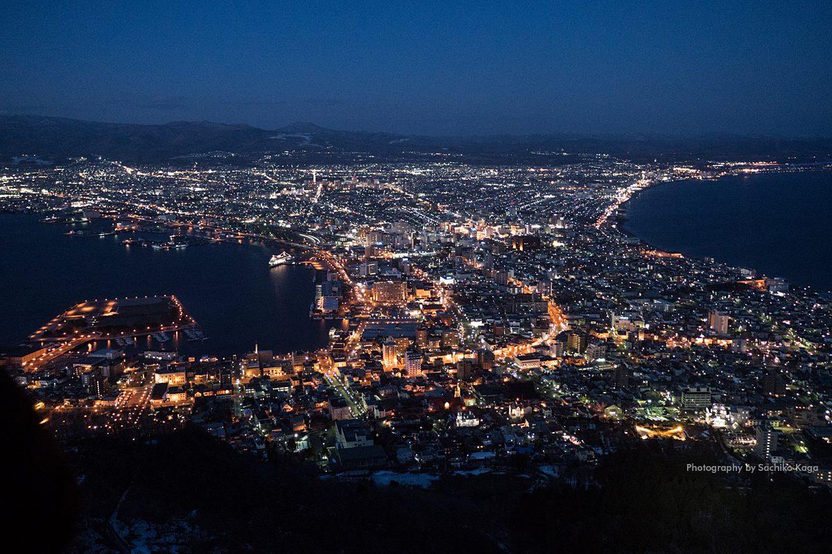 箱館山夜景