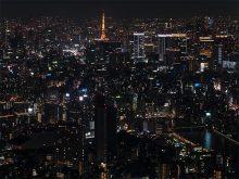 スイカイツリーから見た東京タワー