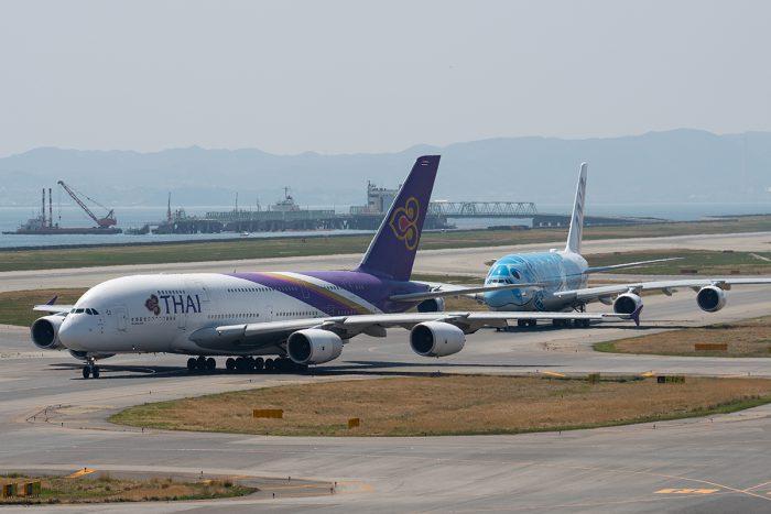 タイのA380とANAのA380
