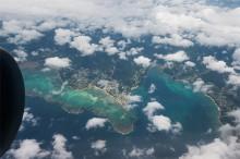 機窓から見た南西諸島