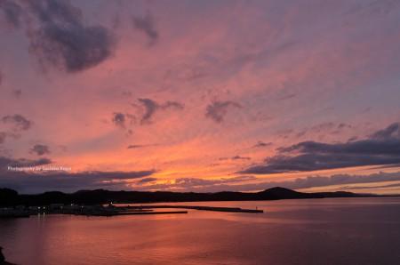 サロマ湖の夕焼け